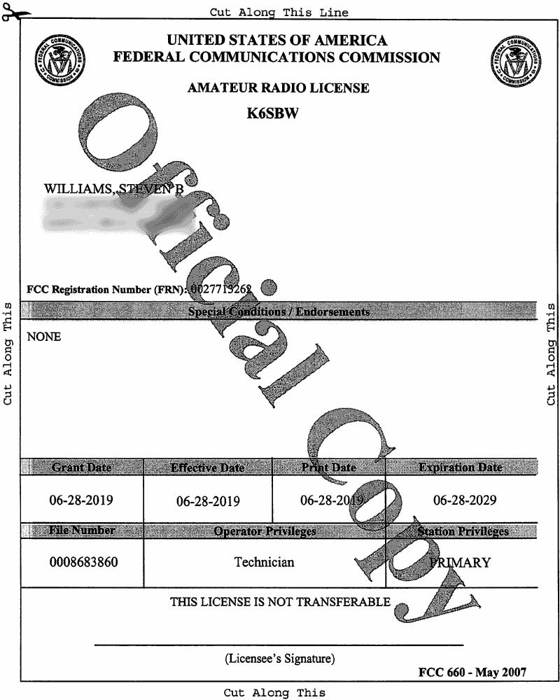 Thumbnail of FCC License